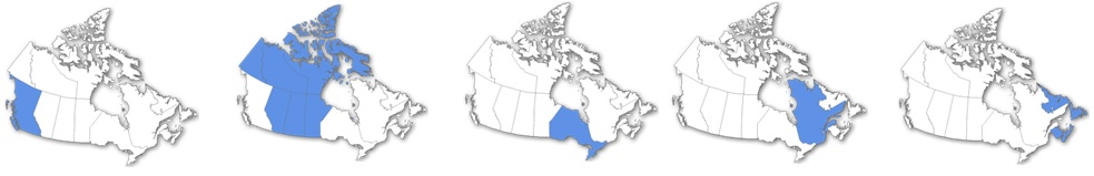 There are five regions across Canada – each region requires a different SFOC.