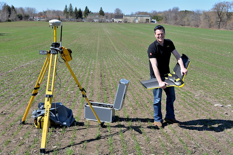 Jean-François Dionne proudly displays some of the new High Eye Aerial survey equipment